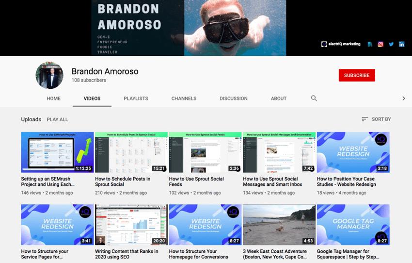 brandon amoroso youtube