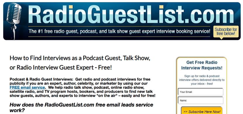 using radio guest list